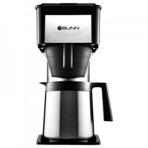 BUNN 10-Cup Velocity Brew BT Thermal Coffee Brewer, Black, Stainless Steel BUNBT 38200.0016