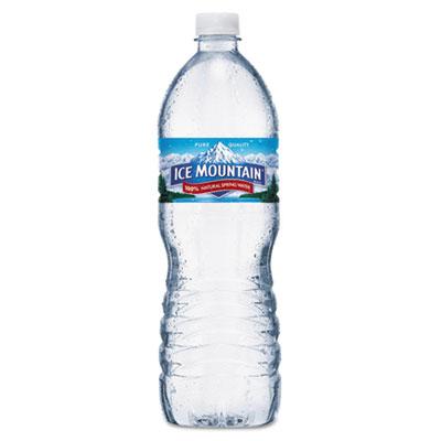 Ice Mountain Natural Spring Water, 1 Liter Bottle, 15 Bottles/Carton NLE967679 32349