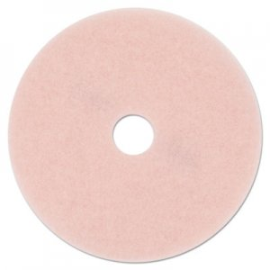 "3M Ultra High-Speed Eraser Floor Burnishing Pad 3600, 27"" Diameter, Pink, 5/Carton MMM25863 3600"