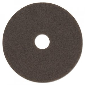 "3M Low-Speed High Productivity Floor Pad 7100, 15"" Diameter, Brown, 5/Carton MMM08443 7100"
