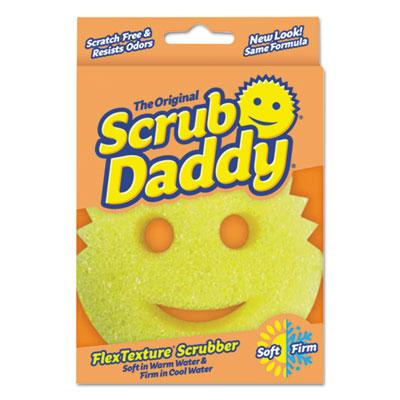 "Scrub Daddy Scratch-Free Scrubbing Sponge, 4 1/8"" Diameter, Yellow, Polymer Foam SCBSDPDQ 859547004046"
