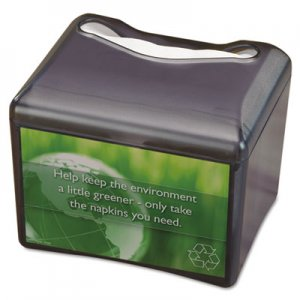 San Jamar Venue Napkin Dispenser w/Advertising Inset, 6 1/2x6 1/8x6 8/9, Cap: 200, Black SJMH4005TBK SAN