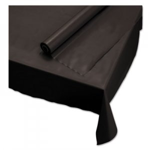 "Hoffmaster Plastic Roll Tablecover, 40"" x 100 ft, Black HFM113003 113003"