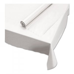 "Hoffmaster Plastic Roll Tablecover, 40"" x 100 ft, White HFM113000 113000"
