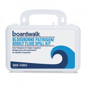 """Boardwalk Bloodborne Pathogen Kit, 30 Pieces, 3"""" x 8"""" x 5"""", White BWK54865 54865"""