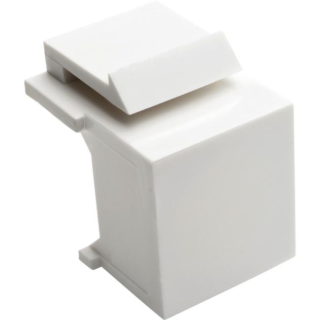 Tripp Lite Snap-In Blank Keystone Jack Insert, White, 10 Pack N040-010-WH