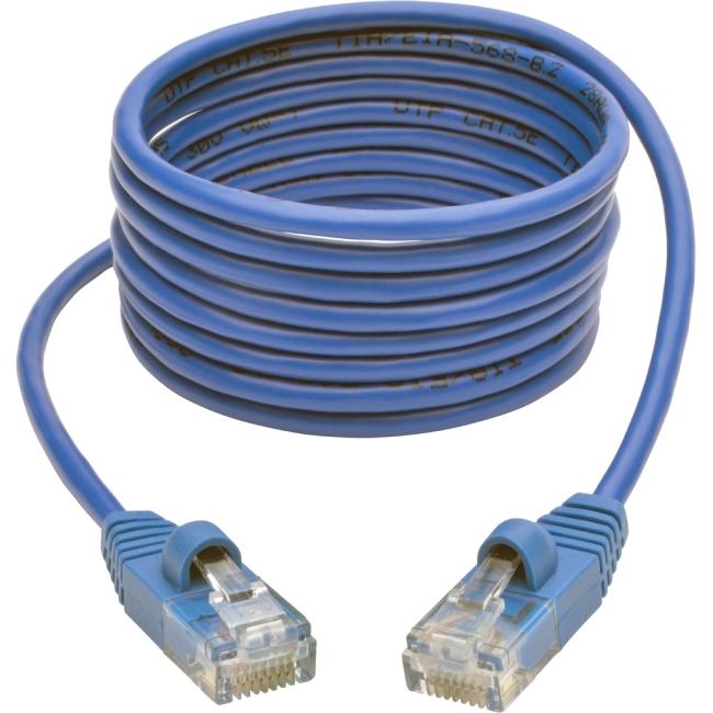 Tripp Lite Cat5e 350 MHz Snagless Molded Slim UTP Patch Cable (RJ45 M/M), Blue, 6ft N001-S06-BL