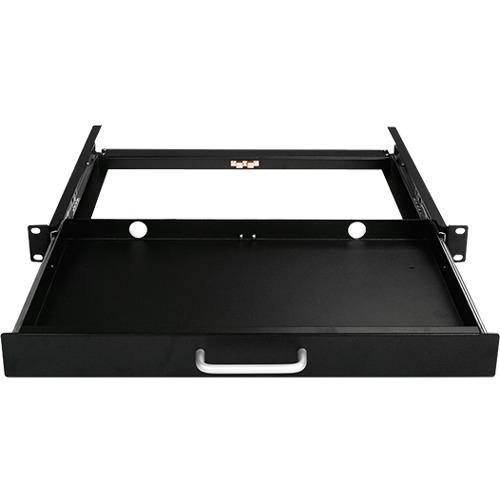 Claytek 1U Compact Sliding Keyboard Tools Drawer WA-KBR-1U