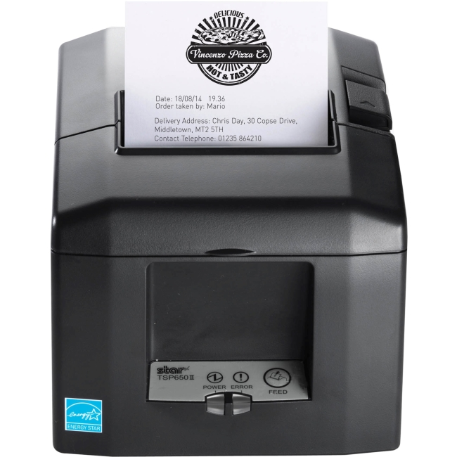 Star Micronics Receipt Printer 39481470 TSP654IIBI2-24OF GRY US