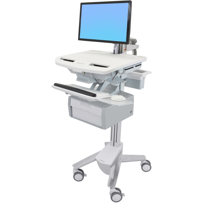 Ergotron StyleView Cart with LCD Arm, 1 Tall Drawer (1x1) SV43-12B0-0