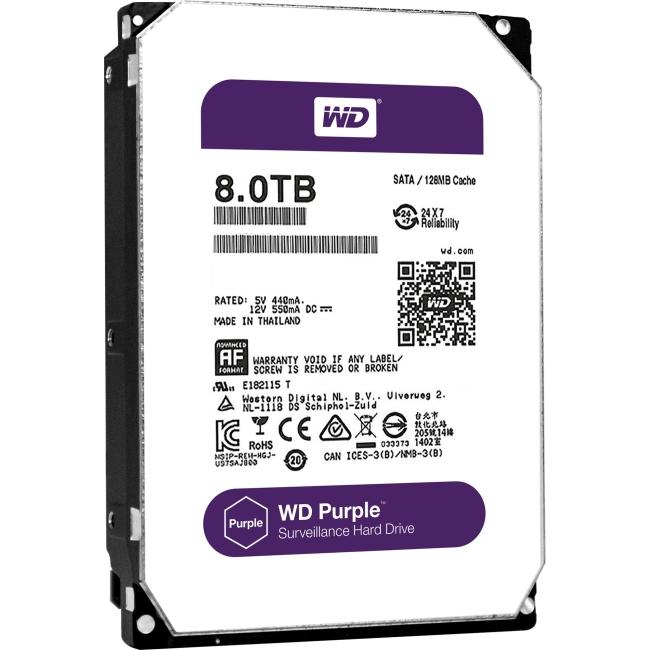 Western Digital Purple 8 TB Surveillance Hard Drive WD80PUZX