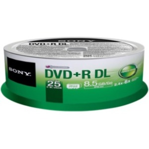 Sony 8x 8.5GB DVD Recordable Media 25DPR85SP/US