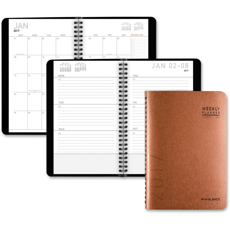 At-A-Glance Contemporary Weekly/Monthly Planner 70100X70 AAG70100X70