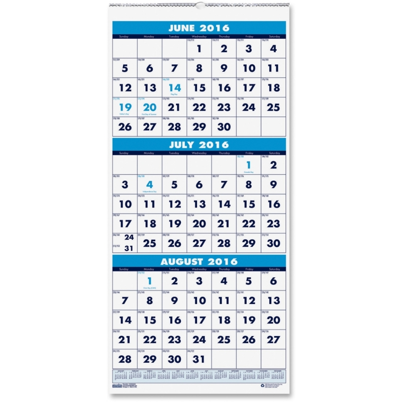 House of Doolittle Three-month Horizontal Wall Calendar 3645 HOD3645