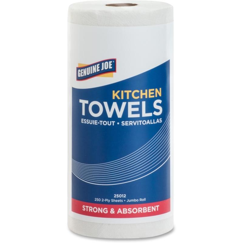 Genuine Joe 250-sheet Perforated Roll Towels 25012 GJO25012