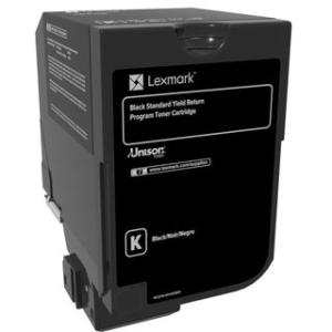 Lexmark CS720, CS725, CX725 Black Standard Yield Return Program Toner Cartridge 74C1SK0