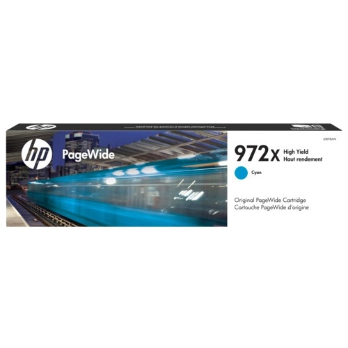 HP High Yield Cyan Original PageWide Cartridge L0R98AN 972X