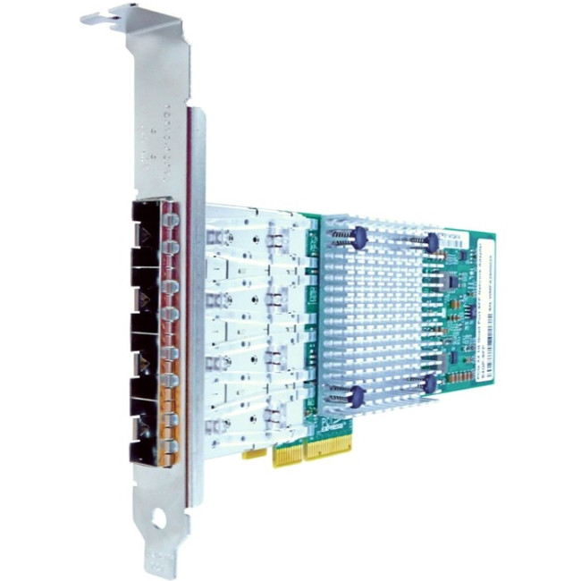 Axiom PCIe x4 1Gbs Quad Port Fiber Network Adapter PCIE-4SFP-AX