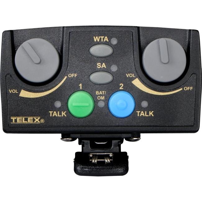 Telex Narrow Band UHF Two-Channel Binaural Wireless Synthesized Portable Beltpack TR-82N-F3R TR-82N