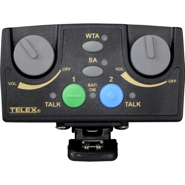 Telex Narrow Band UHF Two-Channel Binaural Wireless Synthesized Portable Beltpack TR-82N-H2R5 TR-82N
