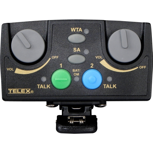 Telex Narrow Band UHF Two-Channel Binaural Wireless Synthesized Portable Beltpack TR-82N-C5 TR-82N