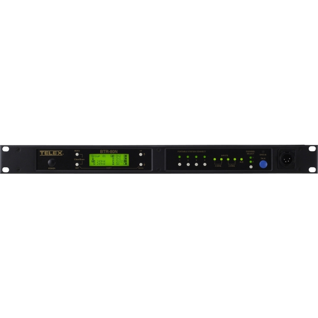 RTS Narrow Band 2-Channel UHF Synthesized Wireless Intercom System BTR-80N-A2R BTR-80N
