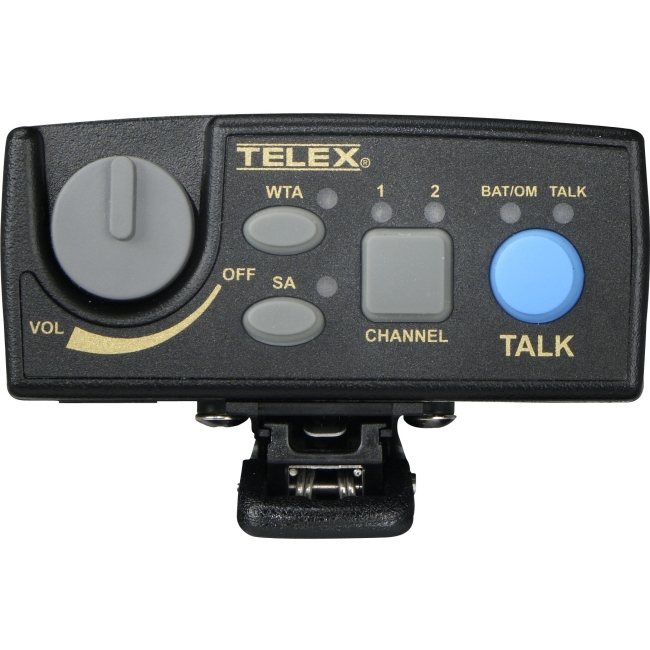 Telex Narrow Band UHF Two-Channel Wireless Synthesized Portable Beltpack TR-80N-F2R TR-80N