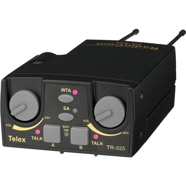 Telex UHF Two-Channel Binaural Wireless Beltpack TR-825-E88R5 TR-825