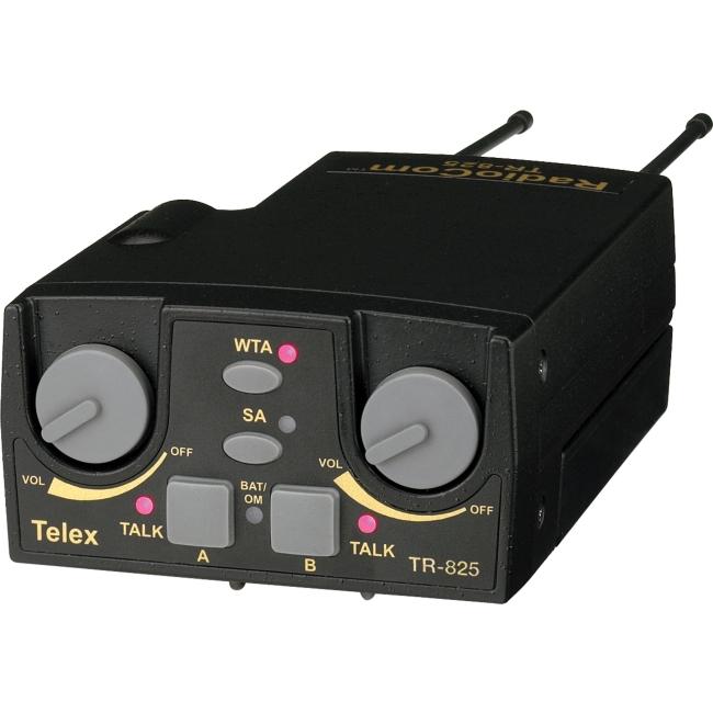Telex UHF Two-Channel Binaural Wireless Beltpack TR-825-H3R5 TR-825