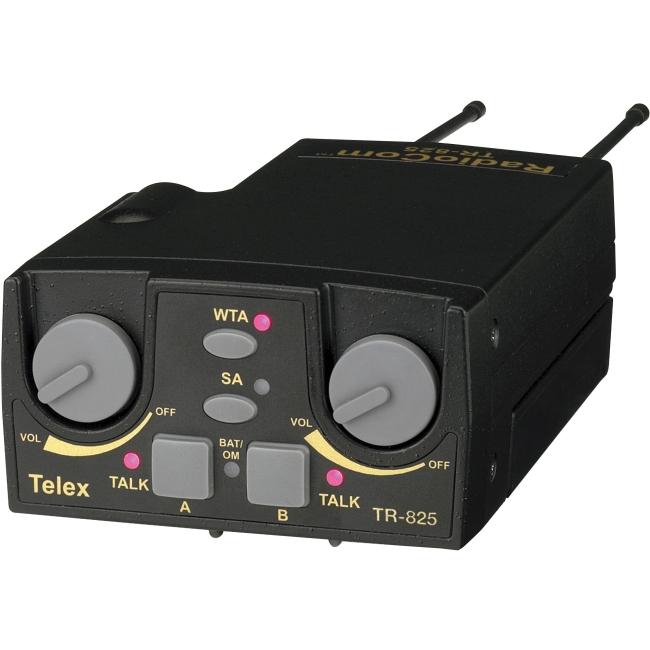 Telex UHF Two-Channel Binaural Wireless Beltpack TR-825-F1R5 TR-825