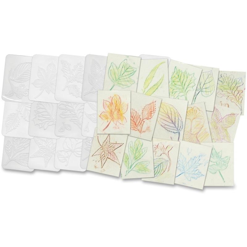 Roylco Leaf Shape Rubbing Plates R5815