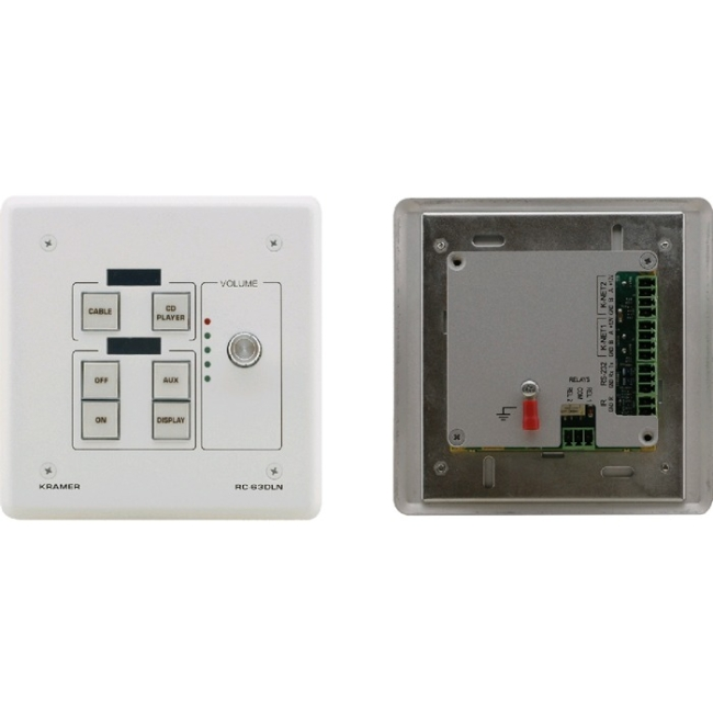 Kramer 6Button Room Controller with Digital Volume Control & LCD Group Labels RC-63DLN