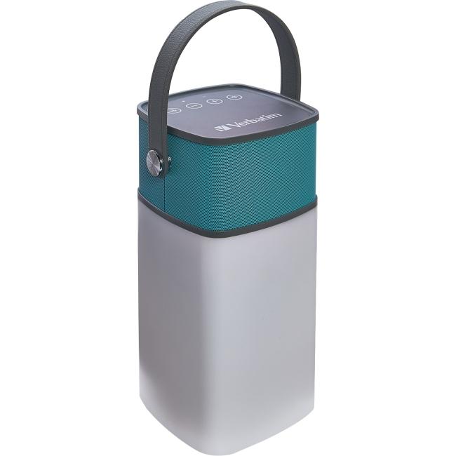 Verbatim 2-in-1 Water Resistant Speaker Lantern - Seaglass 98594