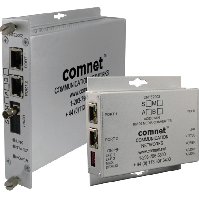 ComNet 2 Channel 10/100 Mbps Ethernet 1310/1550nm CNFE2002S1A/M