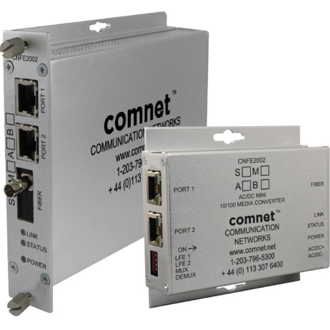 ComNet 2 Channel 10/100 Mbps Ethernet 1310/1550nm CNFE2004M1A/M