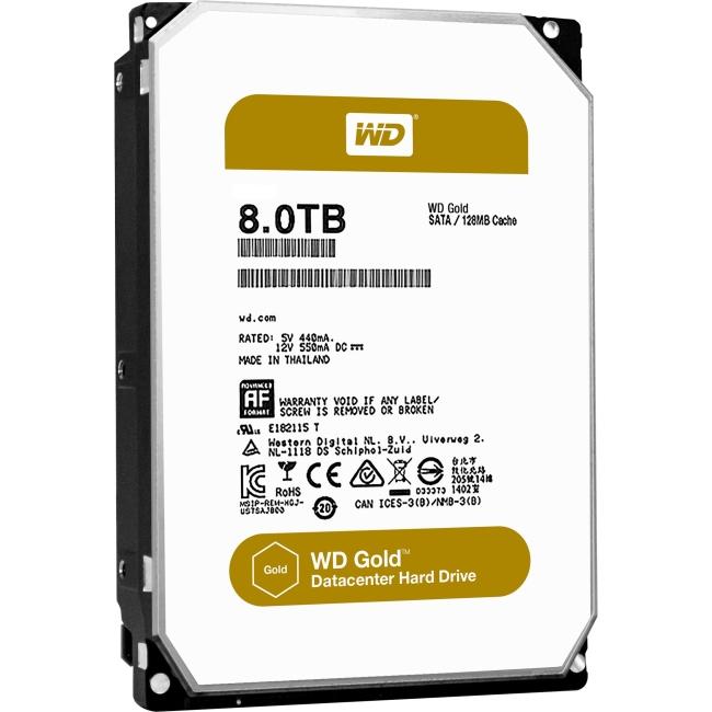 Western Digital Gold High-Capacity Datacenter Hard Drive WD8002FRYZ