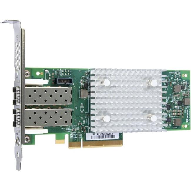 QLogic QLE2742 Dual-port Gen 6 Fibre Channel, Low Profile PCIe Card QLE2742-SR-CK