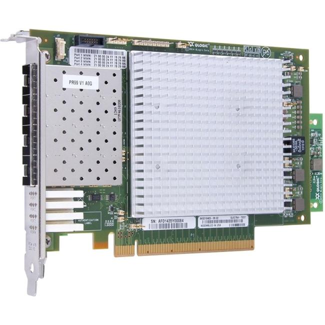 QLogic QLE2764 Quad-port Gen 6 Fibre Channel, Full Height PCIe Card QLE2764-SR-CK