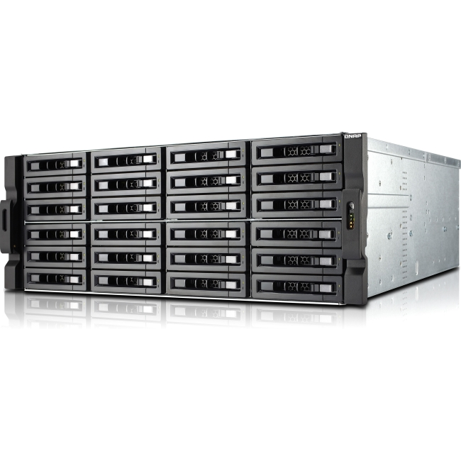 QNAP 24-bay High Performance Unified Storage with Built-in 10GbE TS-EC2480U-E3-4GE-R2