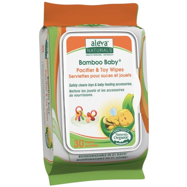 Aleva Naturals Pacifier & Toy Wipes 37988