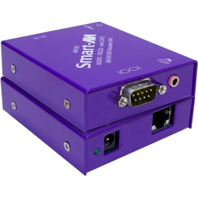 SmartAVI RS-232 & Stereo Sound CAT5 Receiver AR-RX100S