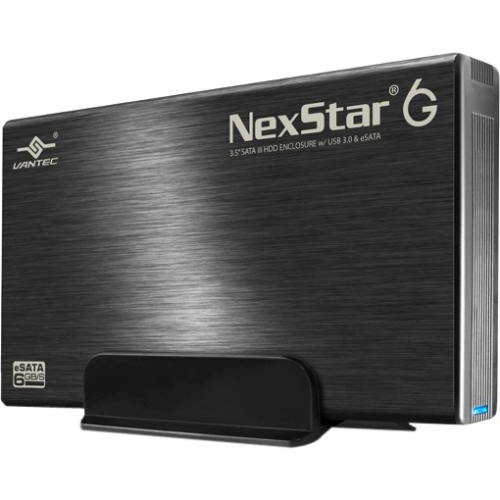 "Vantec 3.5"" SATA III 6 Gb/s to USB 3.0/eSATA Hard Drive Enclosure NST-366SU3-BK"