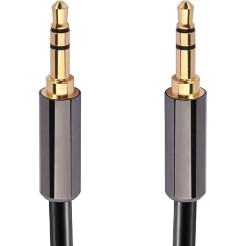 Calrad Electronics High Grade 3.5mm Plug to 3.5mm Plug, Gold Plated Plugs. 3 Ft. Long 55-897-HG