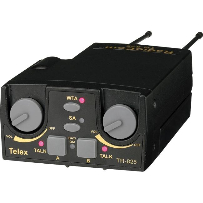 Telex UHF Two-Channel Binaural Wireless Beltpack TR-825-F2 TR-825