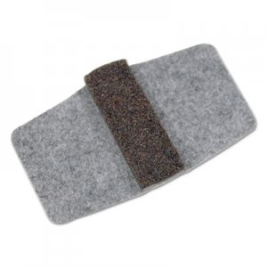 Master Caster Wrap Around Felt Floor Savers, 7 1/4 x 1 x 8, Gray/Black, 16/Pack MAS88458 88458