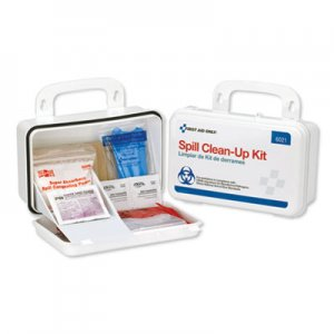 First Aid Only BBP Spill Cleanup Kit, 7 1/2 x 4 1/2 x 2 3/4, White FAO6021
