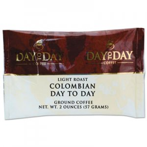 Day to Day Coffee 100% Pure Coffee, Colombian, 2 oz Pack, 42/Carton PCO21001