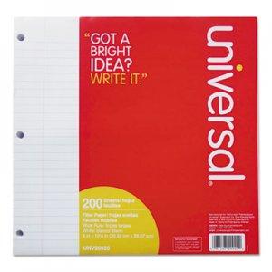 Genpak Filler Paper, 3-Hole, 8 x 10.5, Wide/Legal Rule, 200/Pack UNV20920