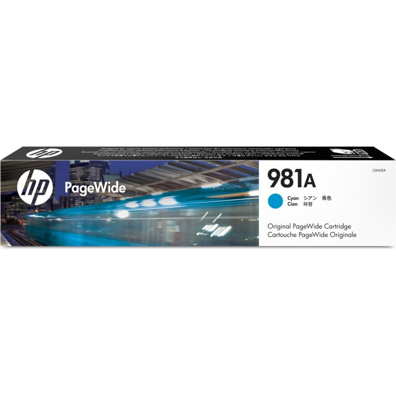 HP Magenta Original PageWide Cartridge ~6,000 Pages J3M69A HEWJ3M69A 981A
