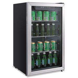 Alera 3.2 Cu. Ft. Beverage Cooler, Stainless Steel/Black ALERFBC34